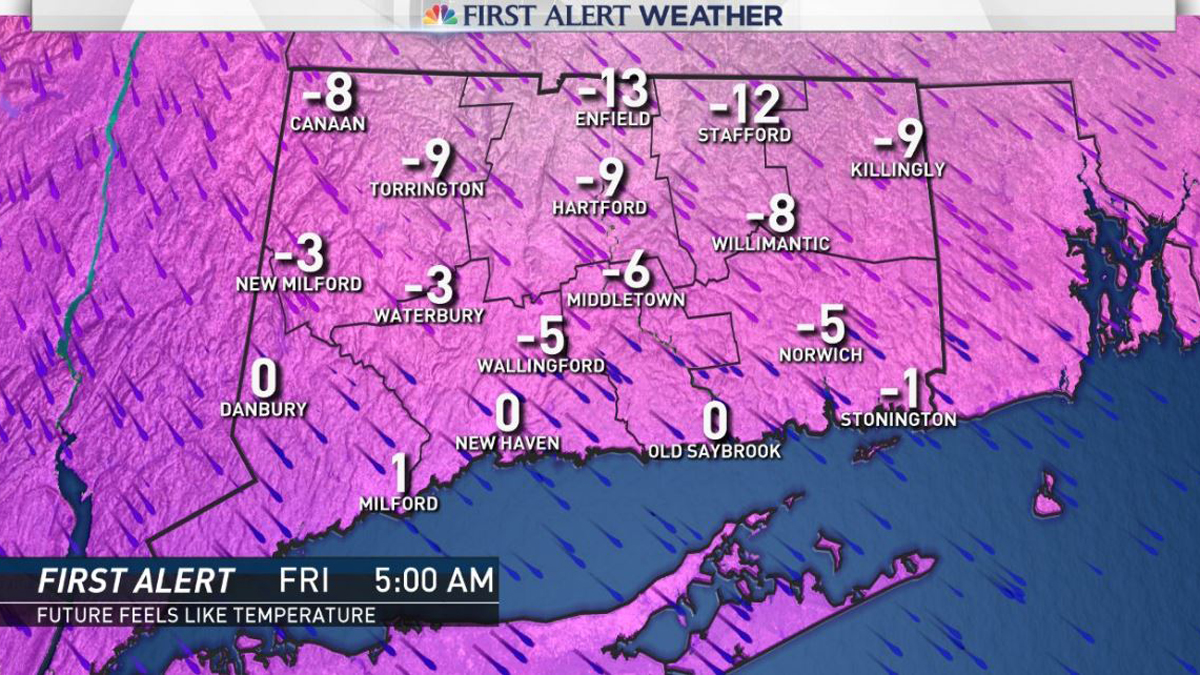 It is going to feel brutally cold Friday morning with cold air and wind chills causing the feels-like temperature to hover under 0 degrees.
