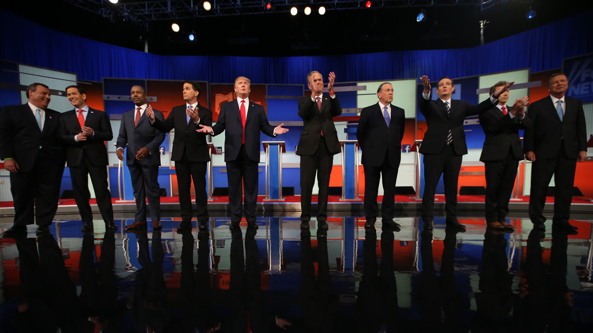 The top GOP candidates vying for a 2016 presidential election nomination faced off in their first debate at the Quicken Loans Arena Thursday, Aug. 6, in Cleveland.