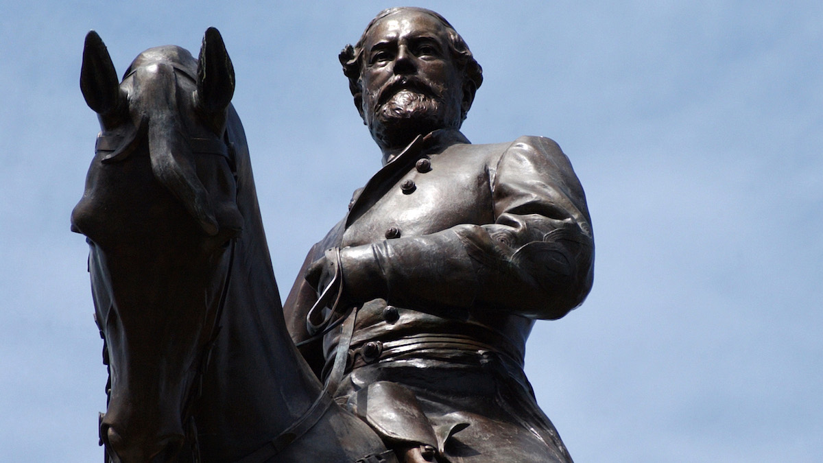 This Gen. Robert E. Lee Monument is located on Monument Avenue in Richmond, Virginia. The large equestrian statue, which depicts the Confederate commander on his horse, Traveller, was created by French sculptor Jean Antonin Mercié, and unveiled on May 29, 1890.