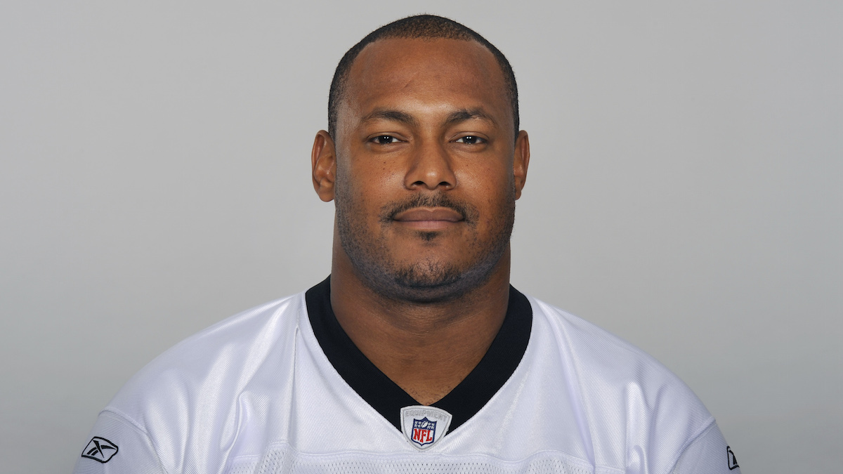 In this handout image provided by the NFL, former New Orleans Saints Will Smith poses for his NFL headshot circa 2011 in Metairie, Louisiana. Smith was shot and killed in New Orleans early Sunday.