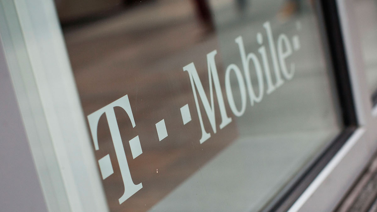 In this file photo, a T-Mobile logo is seen in New York City.