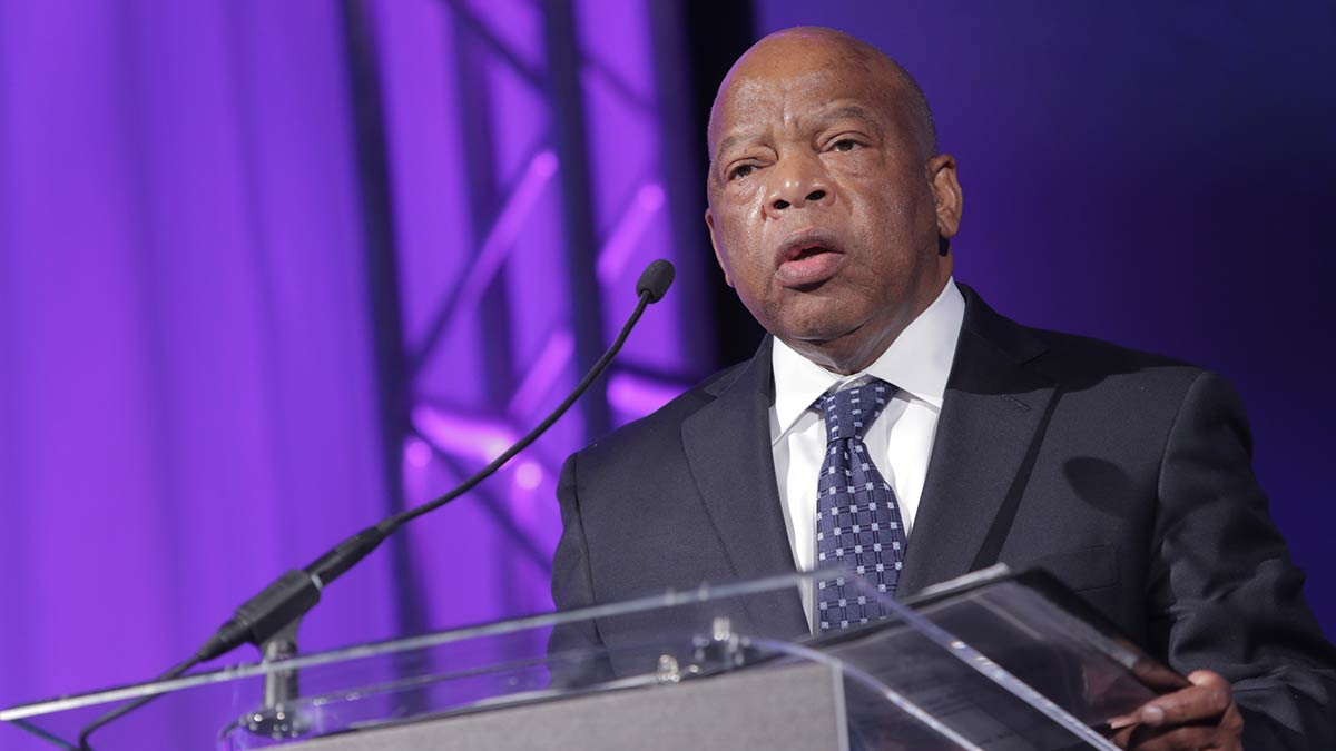 WASHINGTON - NOVEMBER 28: Rep. John Lewis (D-GA) presents Smithsonian Magazine's first annual American Ingenuity Award for social progress on November 28, 2012 in Washington, DC. The awards honor nine groundbreaking individuals in technology, performing and visual arts, natural and physical sciences, education, historical scholarship, social progress, and youth achievement. (Photo by Brendan Hoffman/Getty Images for Smithsonian Magazine)