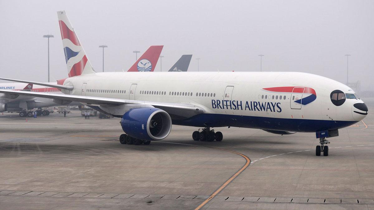 A British Airways Boeing 777