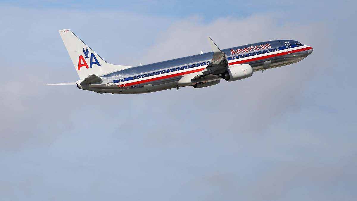 An American Airlines plane takes off in this file photo.