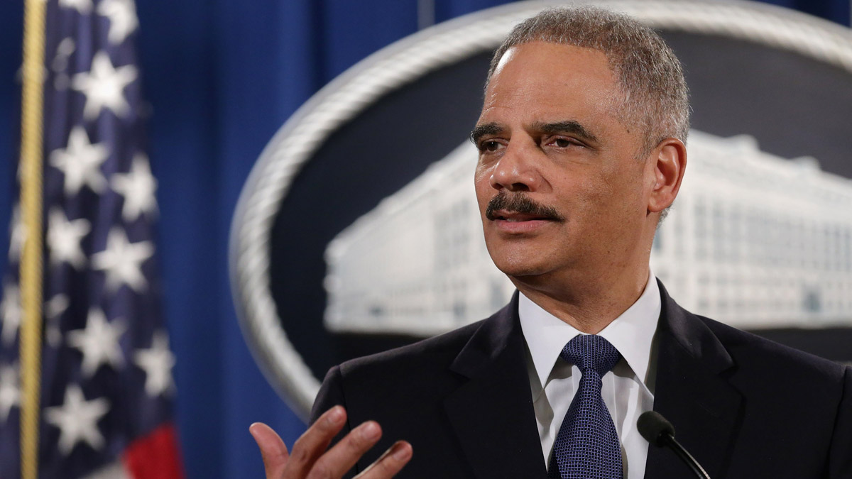 Former U.S. Attorney General Eric Holder is pictured in this March 2015 file photo.