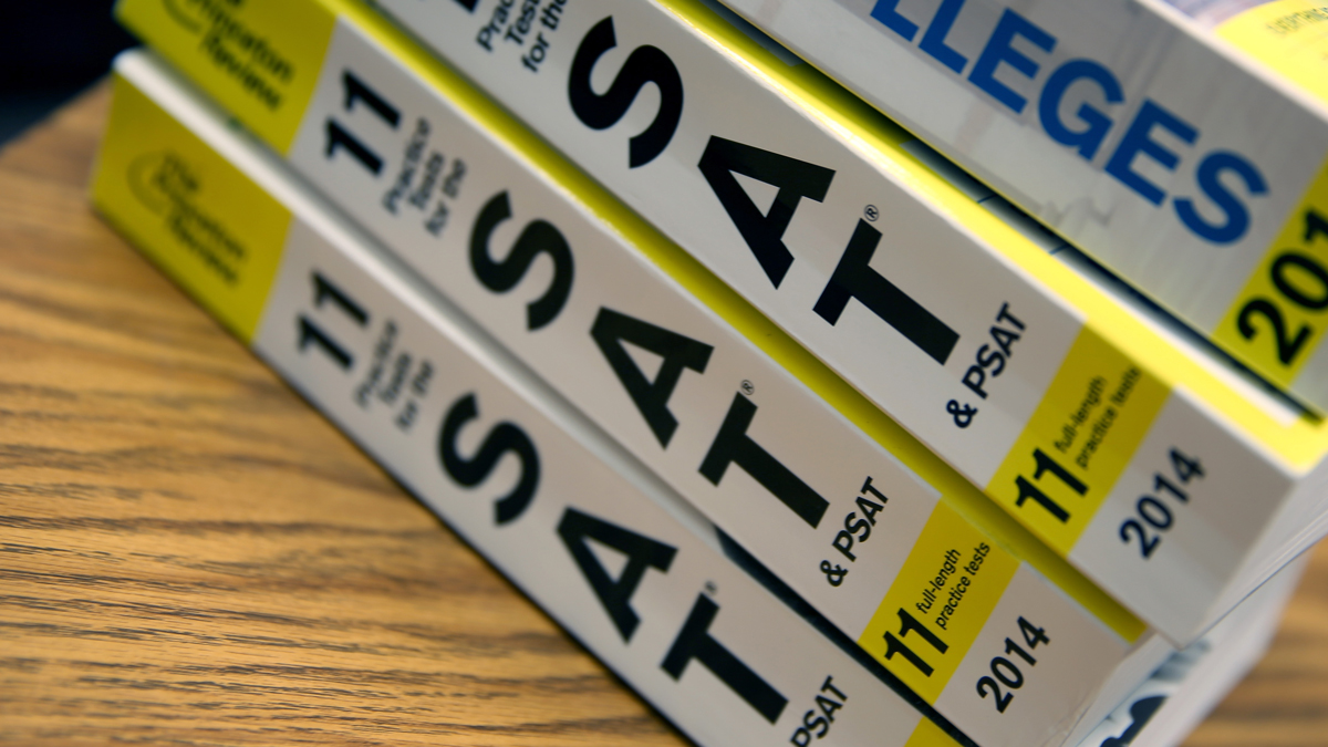 Princeton Review SAT Preparation books are seen on March 6, 2014 in Miami, Florida, a day after the College Board announced a redesign of the SAT scheduled to take effect in early 2016.