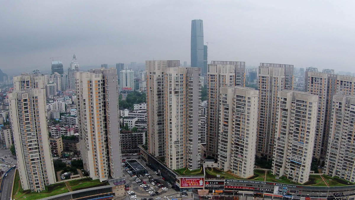 In this file photo, a general view of Liuzhou, China.