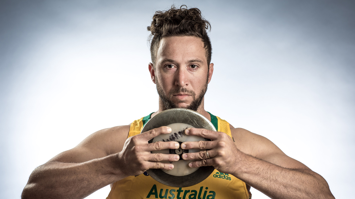 WAKAYAMA, JAPAN - AUGUST 17: Discus thrower Benn Harradine of Australia poses for a portrait during a photo session at the Athletics Australia training camp on August 17, 2015 in Wakayama, Japan. (Photo by Chris McGrath/Getty Images for Athletics Australia)