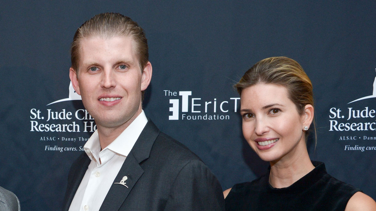Eric Trump and Ivanka Trump in Briarcliff Manor, New York in 2015.