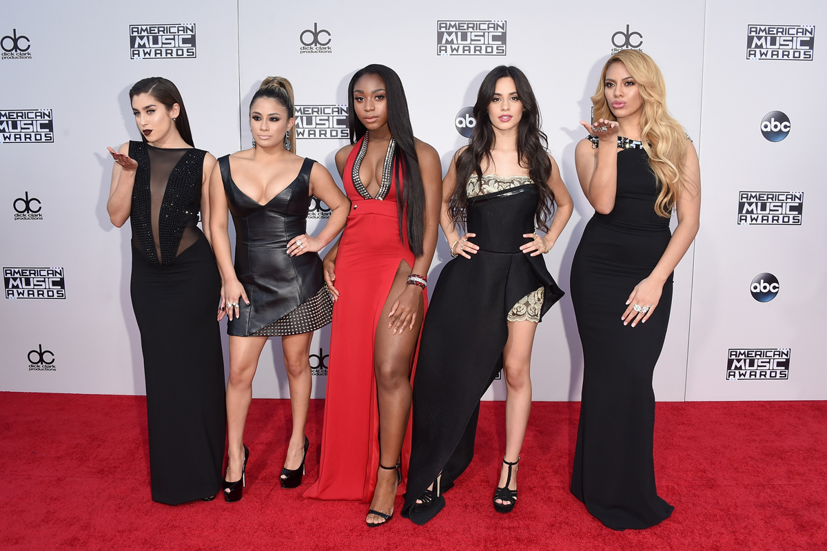 (L-R) Recording artists Lauren Jauregui, Ally Brooke, Normani Hamilton, Camila Cabello and Dinah-Jane Hansen of Fifth Harmony.