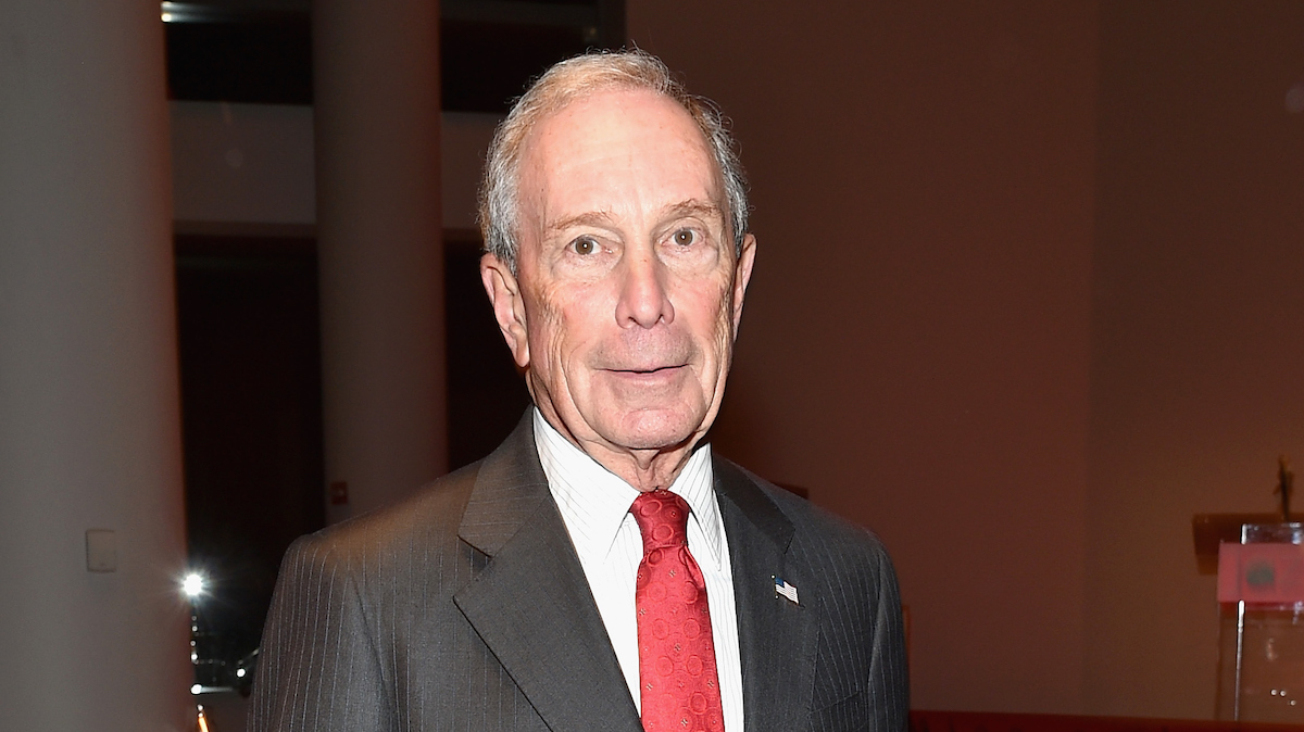 In this file photo, former New York City Mayor, Michael Bloomberg attends the opening of the Mica and Ahmet Ertegun Atrium at Jazz at Lincoln Center on December 17, 2015 in New York City.