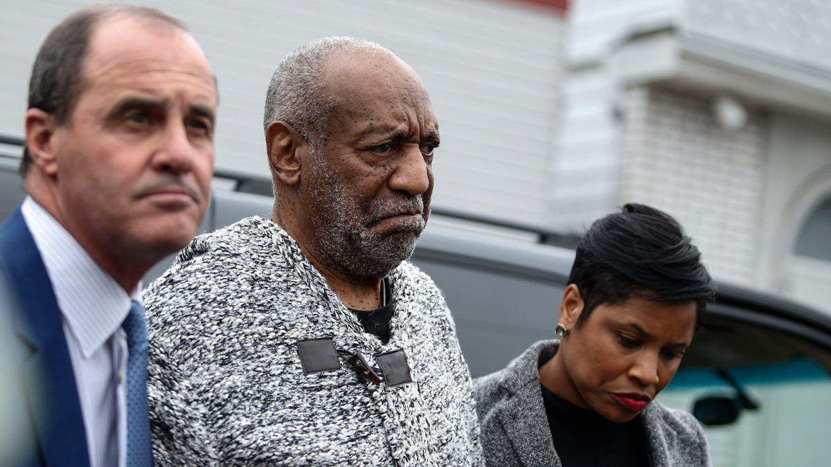 Comedian Bill Cosby arrives to a courthouse in Elkins Park, Pennsylvania, on December 30, 2015, to face charges of aggravated indecent assault. Cosby was arraigned over an incident that took place in 2004 -- the first criminal charge filed against the actor after dozens of women claimed abuse.