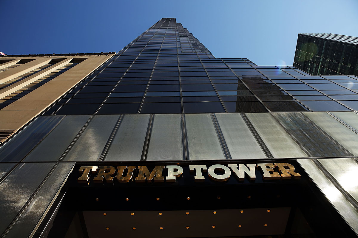 Trump Tower on 5th Avenue in Manhattan this March. The man who gave the tower its name has been elected the 45th president of the United States, requiring greater security for the skyscraper.