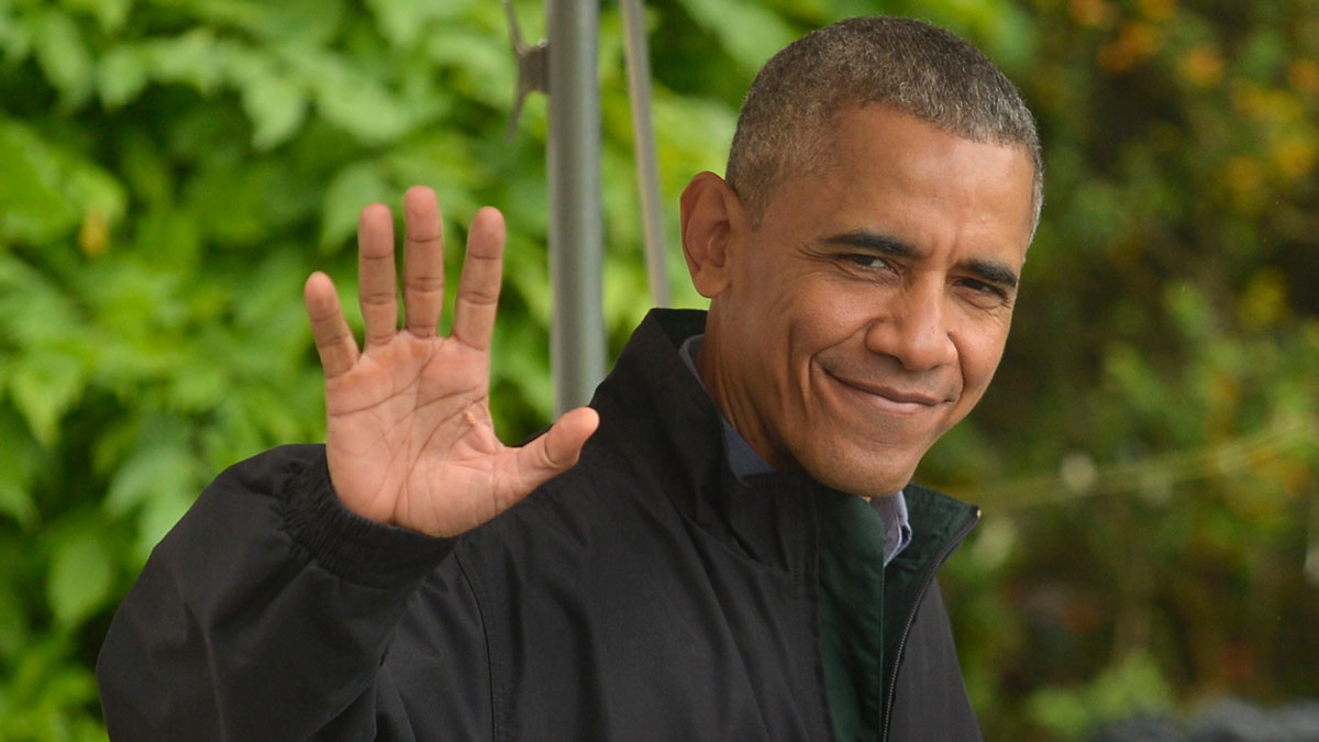 President Barack Obama departs the White House for a week-long trip to Japan and Vietnam, May 21, 2016, in Washington, D.C. His approval is at its highest point since his second inauguration, a new NBC News/Wall Street Journal poll found.