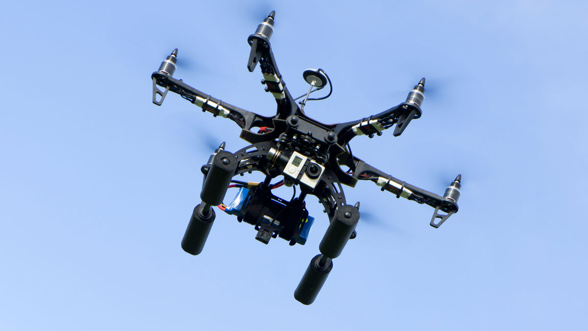 File image: drone with a camera.
