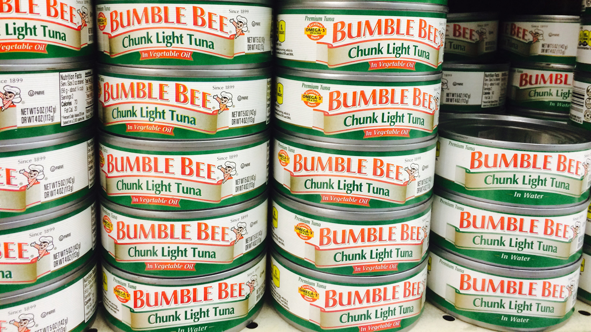 The three products that fall under the voluntary recall are: 5 oz Bumble Bee Chunk Light Tuna in Water, 5 oz Bumble Bee Chunk Light Tuna in Oil, and the 4-pack of 5 oz Bumble Bee Chunk Light Tuna in Water.