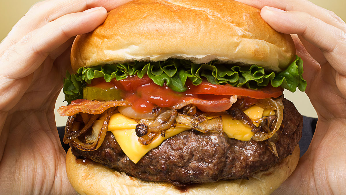 A file photo of a burger. The
