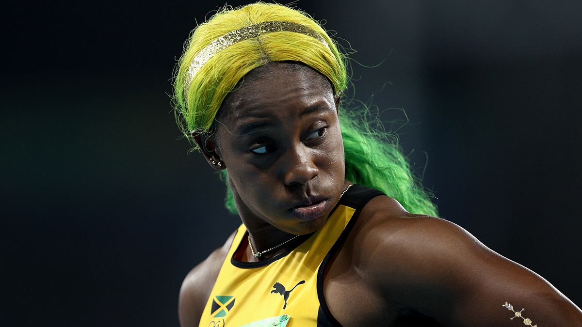 Shelly-Ann Fraser-Pryce of Jamaica competes in the Women's 100m Semi final on Day 8 of the Rio 2016 Olympic Games at the Olympic Stadium on August 13, 2016 in Rio de Janeiro, Brazil.