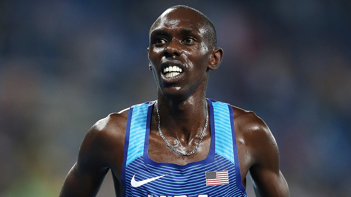 RIO DE JANEIRO, BRAZIL - AUGUST 20: Paul Kipkemoi Chelimo of the United States reacts after the Men's 5000 meter Final on Day 15 of the Rio 2016 Olympic Games at the Olympic Stadium on August 20, 2016 in Rio de Janeiro, Brazil. (Photo by Cameron Spencer/Getty Images)