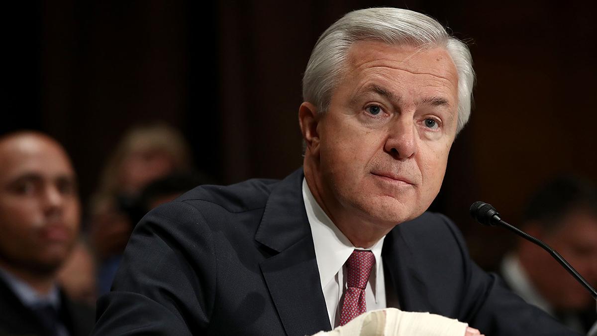 John Stumpf testifies before the Senate Banking, Housing and Urban Affairs Committee Sept. 20, 2016 in Washington, DC.