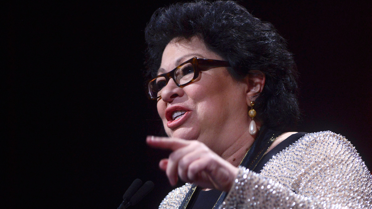 File photo: Supreme Court Justice Sonia Sotomayor receives the Leadership Award during the 29th Hispanic Heritage Awards at the Warner Theatre on Sept. 22, 2016, in Washington, D.C.