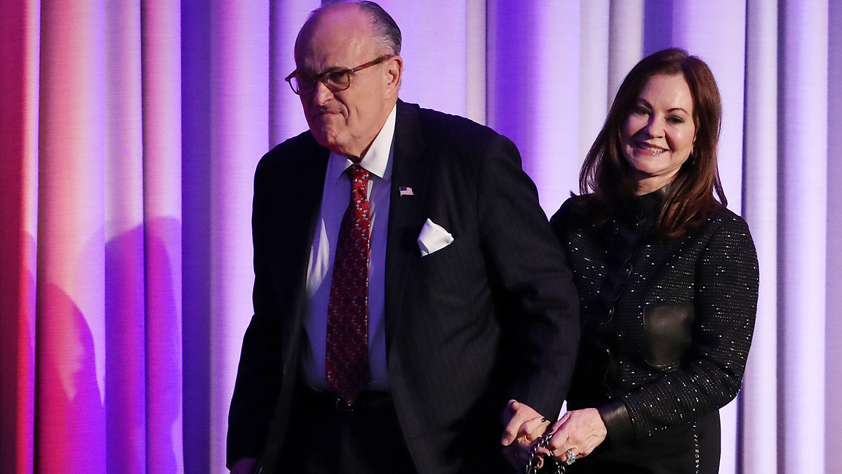 Rudy Giuliani and his wife Judith in 2016.