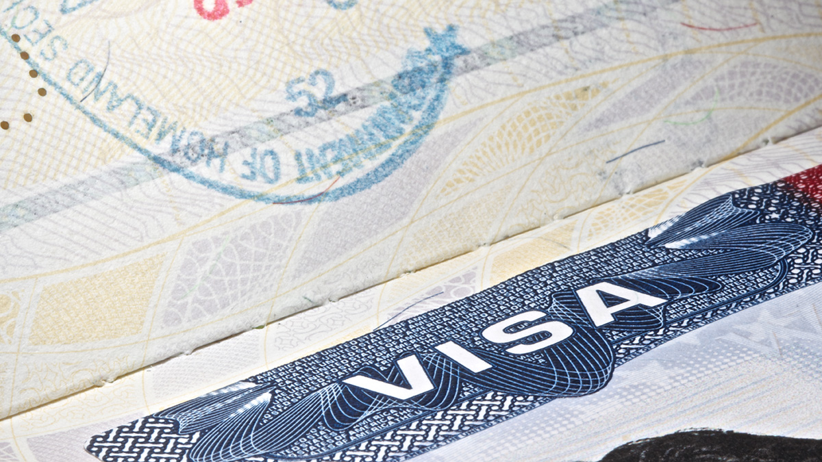 A file image of a U.S. visa