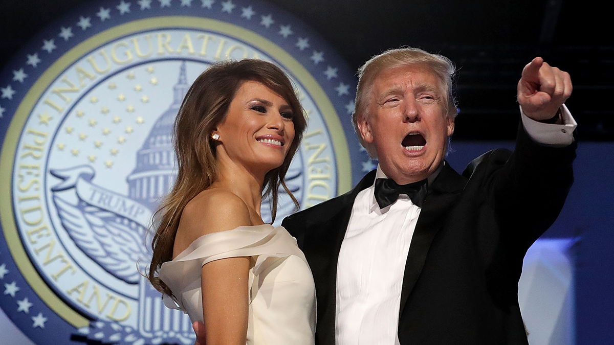 U.S. President Donald Trump dances with first lady Melania Trump during the inaugural Freedom Ball at the Washington Convention Center Jan. 20, 2017, in Washington, D.C.