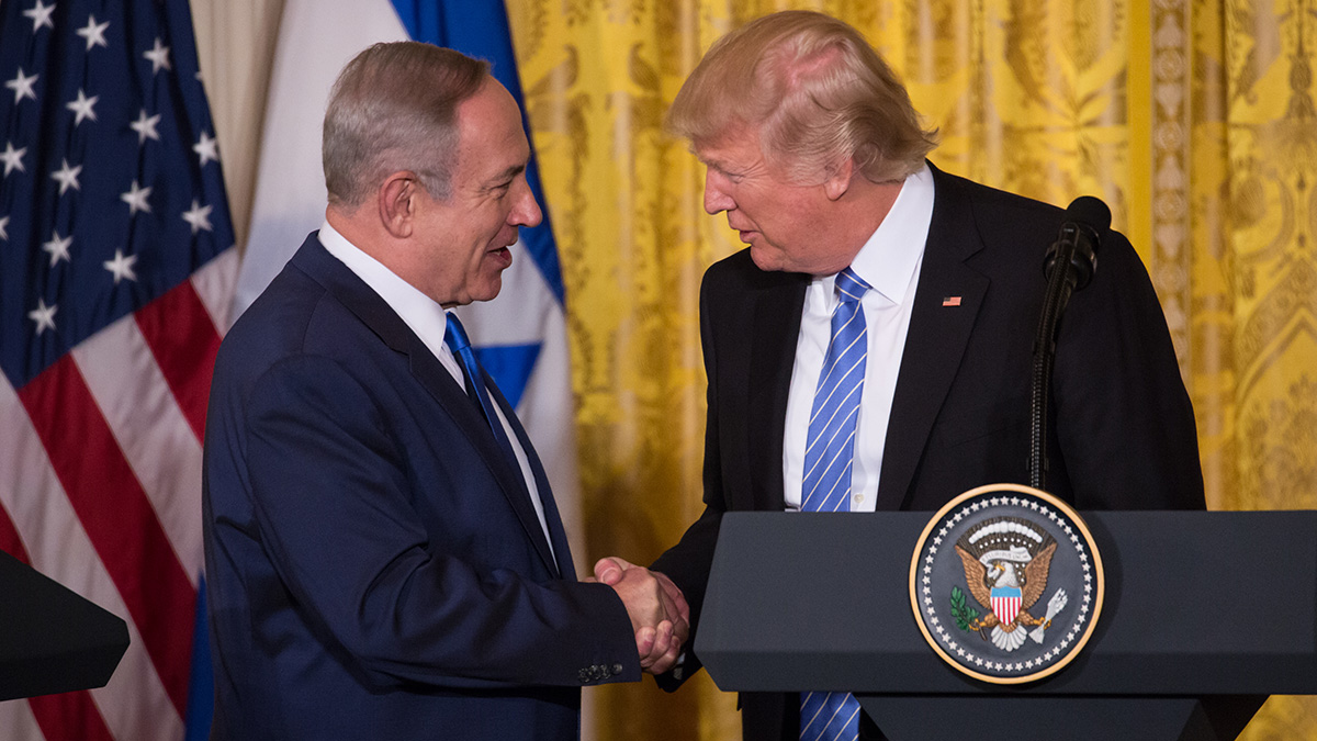 This Feb. 15, 2017, file photo shows President Donald Trump and Israeli Prime Minister Benjamin Netanyahu in Washington, D.C.