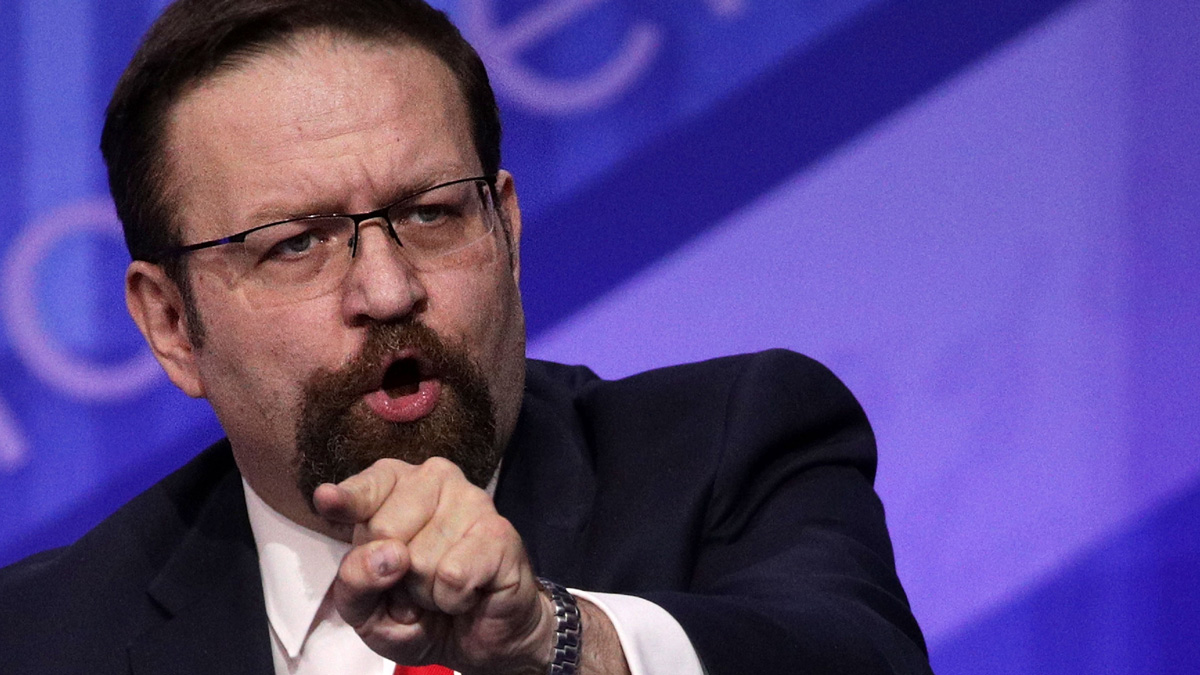 In this file photo, Sebastian Gorka participates in a discussion during the Conservative Political Action Conference at the Gaylord National Resort and Convention Center Feb. 24, 2017, in National Harbor, Maryland.