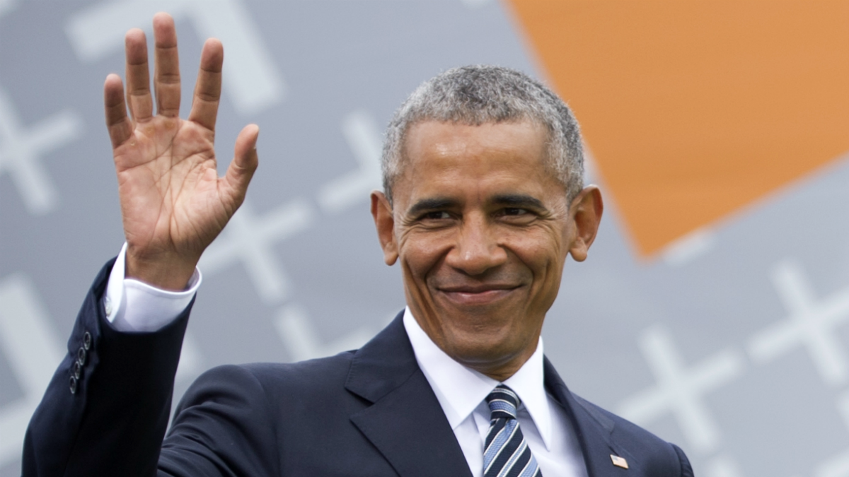 Former President of the United States of America Barack Obama arrives for a discussion about democracy at Church Congress on May 25, 2017 in Berlin, Germany. Up to 200,000 faithful are expected to attend the five-day congress in Berlin and Wittenberg that this year is celebrating the 500th anniversary of the Reformation.