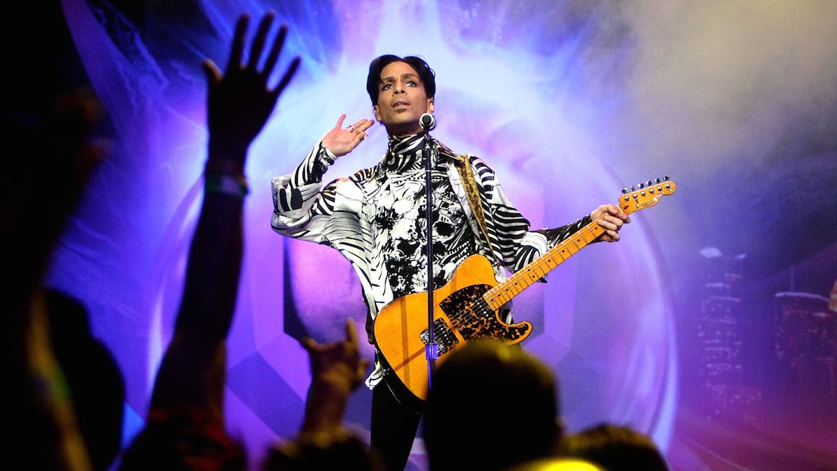 ***EXCLUSIVE*** Prince performs his first of three shows onstage during