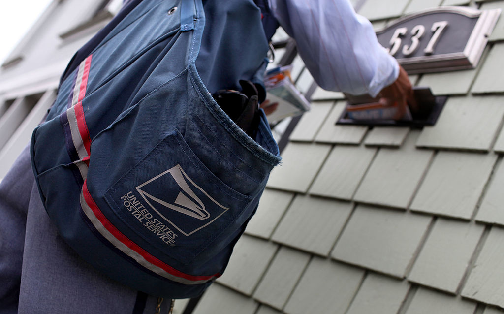 File photo of a USPS worker.