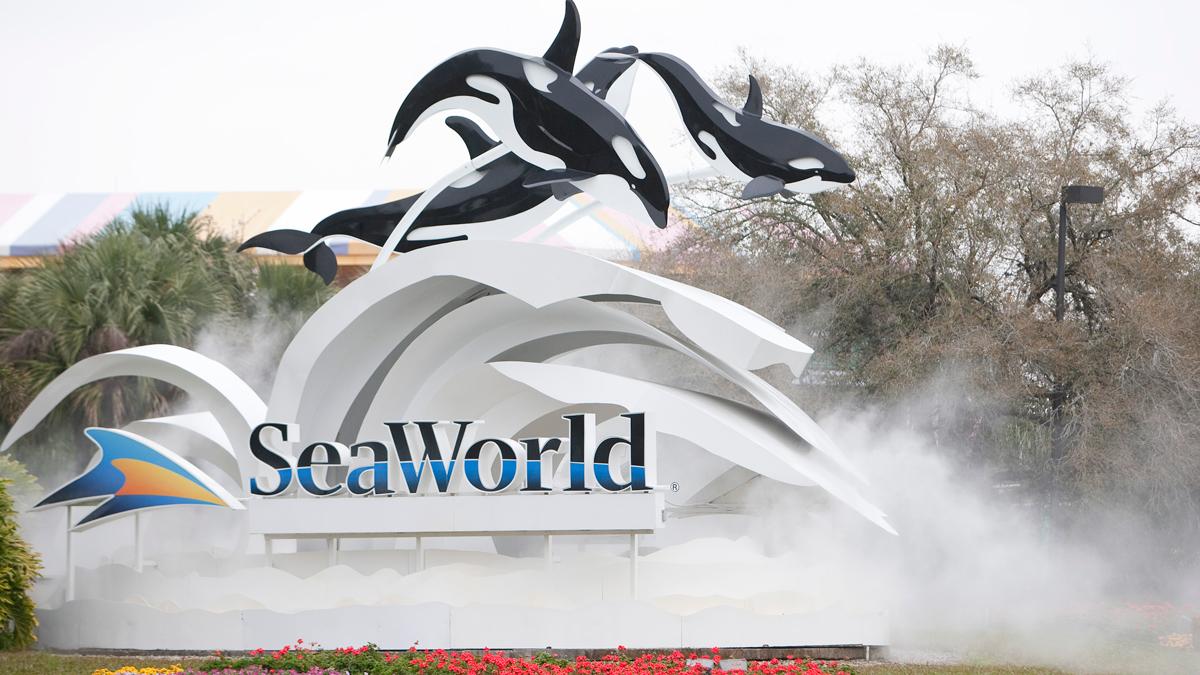 The entrance to SeaWorld in Orlando, Florida.