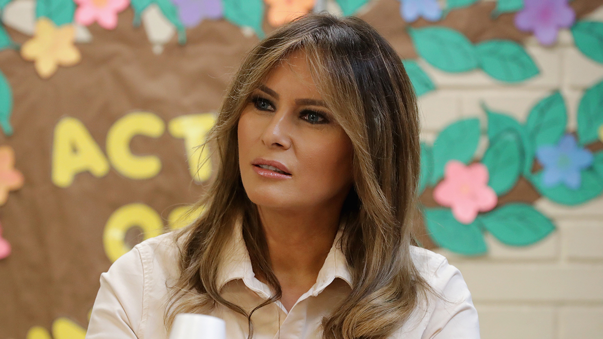 First lady Melania Trump participates in a round table discussion with doctors and social workers at the Upbring New Hope Children's Center operated by Lutheran Social Services of the South and contracted with the Department of Health and Human Services June 21, 2018, in McAllen, Texas.