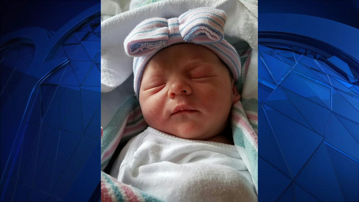 Gia Burns was born at 12:29 a.m. at Hartford Hospital on New Year's Day.