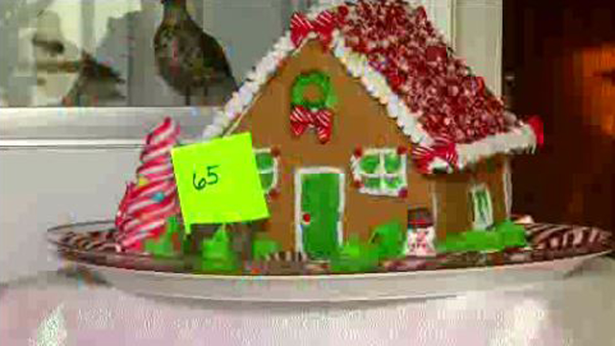 One of the many gingerbread houses on display at the 6th Annual Gingerbread House Festival at the Wood Library and Museum in South Windsor.