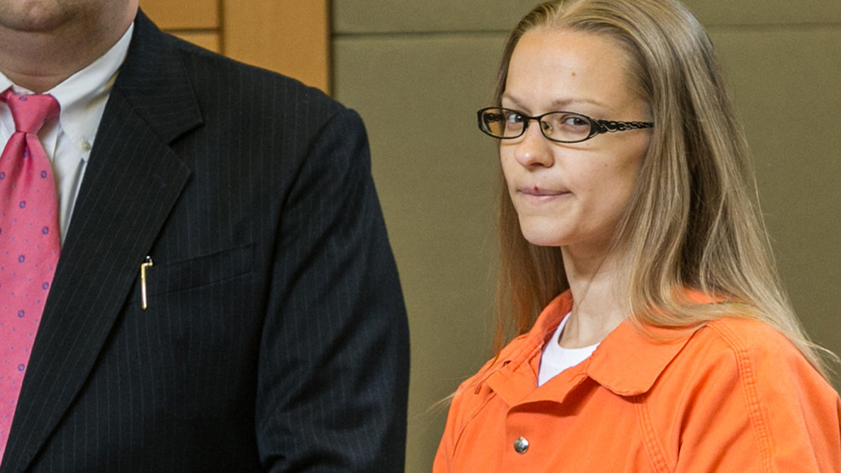 Angelika Graswald stands in court with Michael Archer a foresnsic scientist and her attorneys Jeffrey Chartier and Richard Portale ask for bail and to unseal the indictment against her at her bail hearing in Goshen, NY on May 13, 2015.  Ms. Graswald has been charged with second-degree murder in disappearance of her fiance, Vincent Viafore while kayaking on the Hudson River. ALLYSE PULLIAM/For the Times Herald-Record
