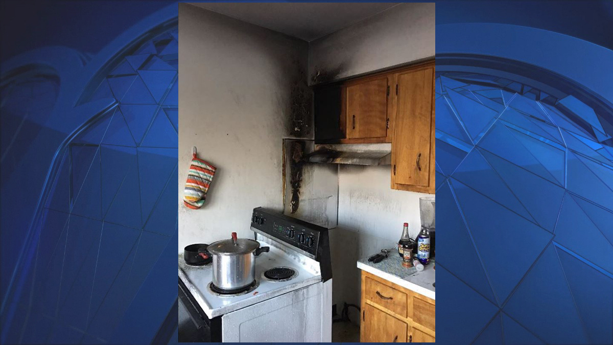 An apartment in the Whitney Village Quinnipiac University student housing complex was damaged by a fire caused by a student trying to cook on the stove Tuesday evening.