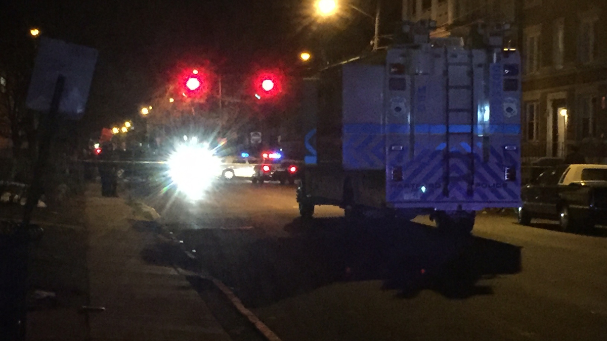 One man was killed in a shooting on Ashley Street in Hartford Monday night.