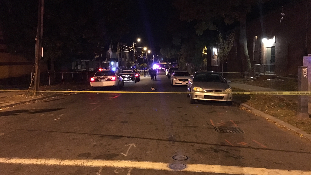 Four people were injured in a shooting on Elliott Street in Hartford overnight.