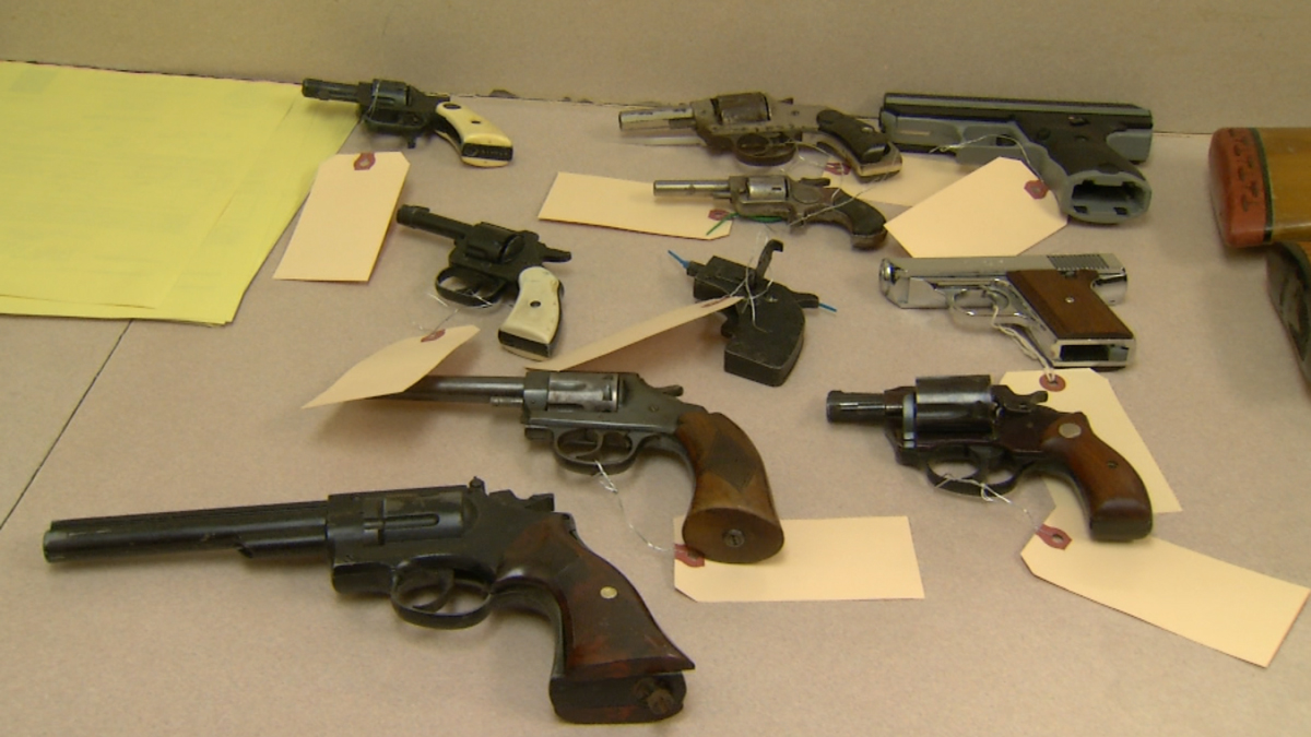 Hartford police and Saint Francis Hospital collected 26 weapons at a gun buyback event in Hartford Saturday.