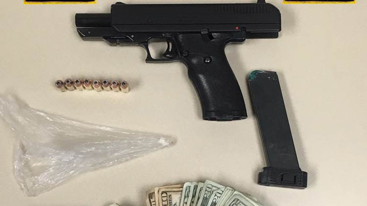 Hartford police seized a Hi-Point .40 semi-automatic pistol, 2 grams of raw heroin, some crack cocaine, $286 in cash and packaging materials during a narcotics operation in the South End of the city Monday.