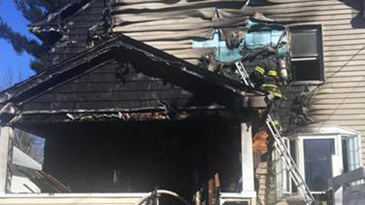 Hartford firefighters knocked down flames at a home at 106 West Morningside Street Sunday morning.