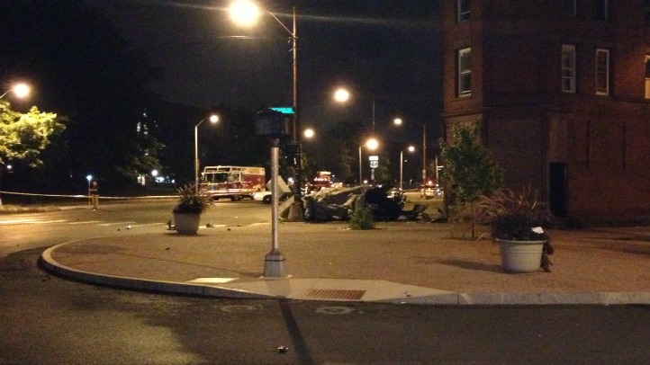 Two people were killed and another was injured in a crash in Hartford.