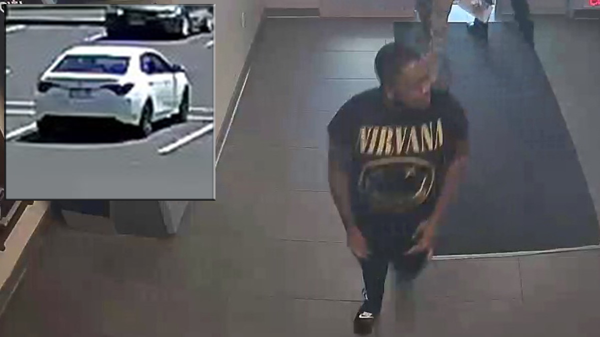 State police say the suspect pictured above used credit cards stolen from a Haddam home at a rest stop on I-95 in Madison Friday.