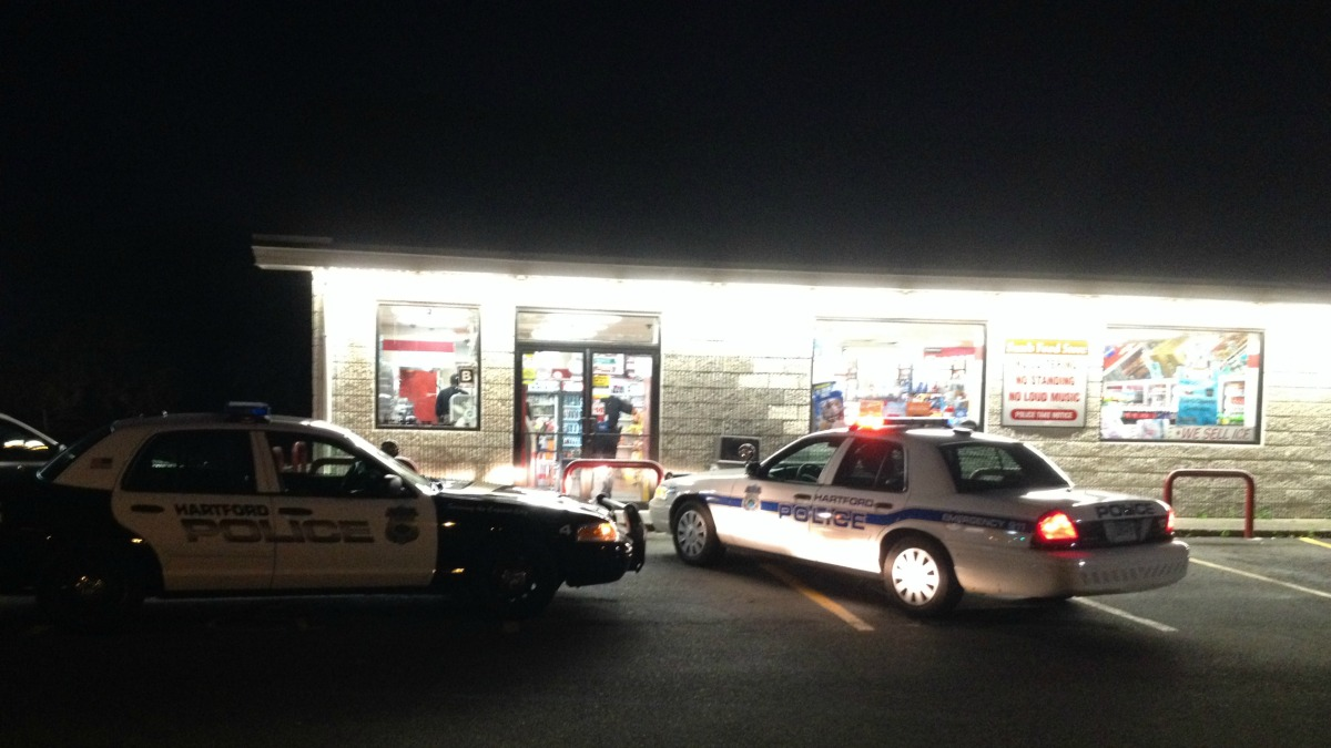 A Hartford Sam's Food Store was robbed early Tuesday morning.
