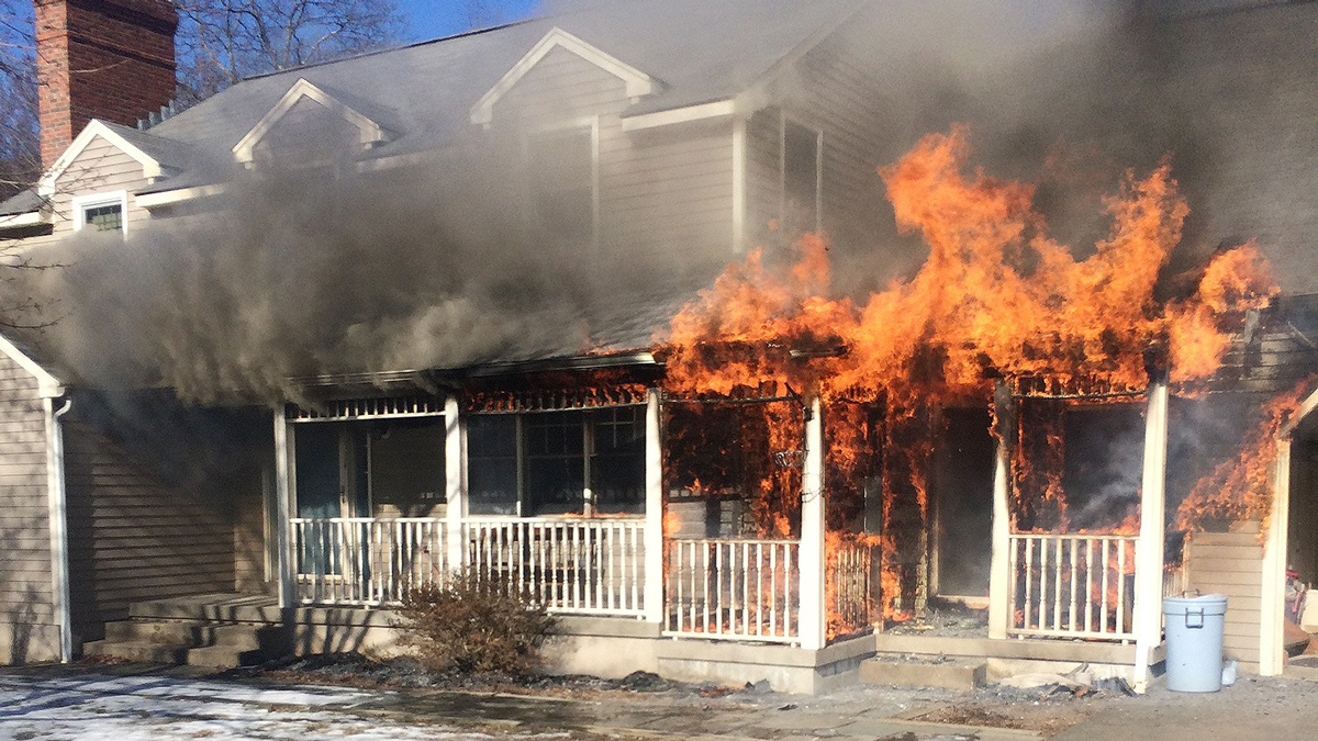 Fire broke out at a home on Country Walk in Higganum Monday morning.