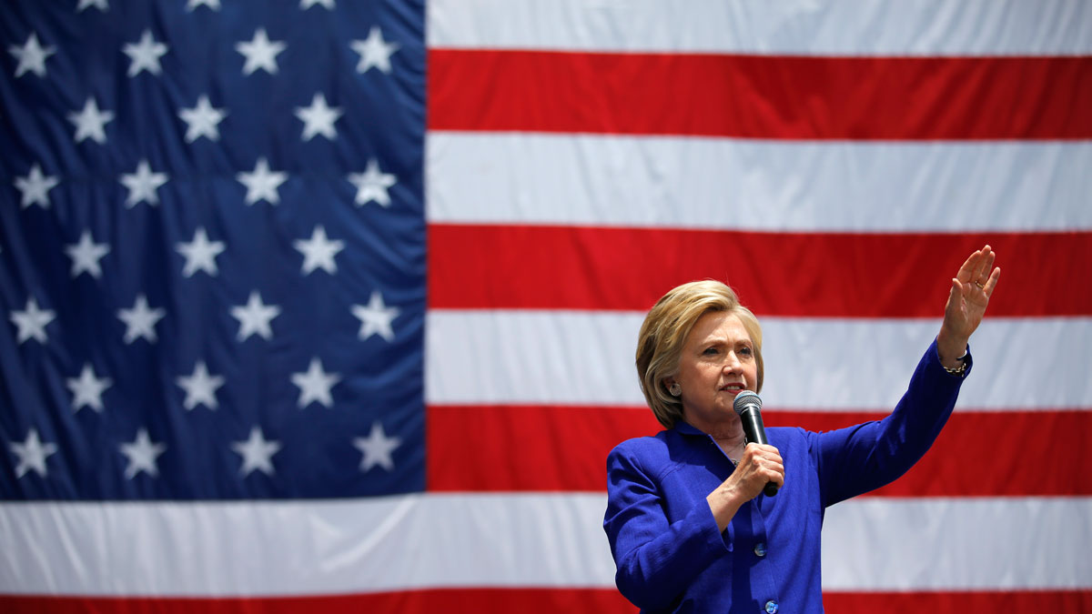 Democratic presidential candidate Hillary Clinton speaks at a rally, Monday, June 6, 2016, in Lynwood, Calif.