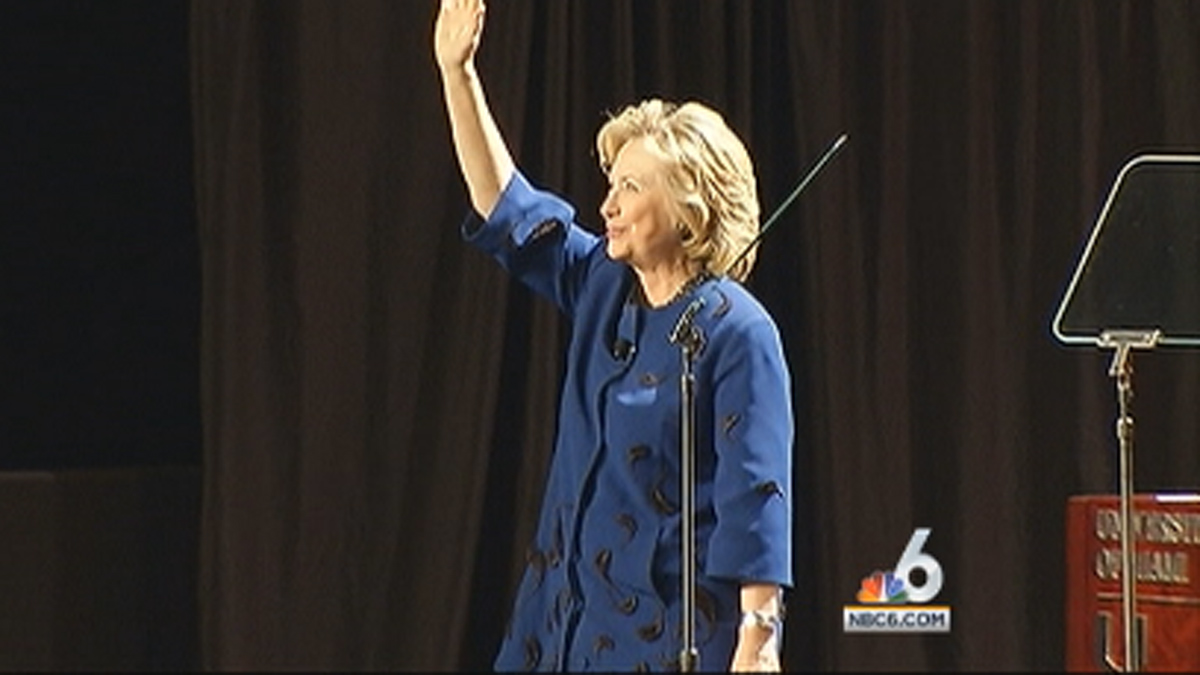 Hillary Clinton spoke at the University of Miami on Wednesday, Feb. 26, 2014.